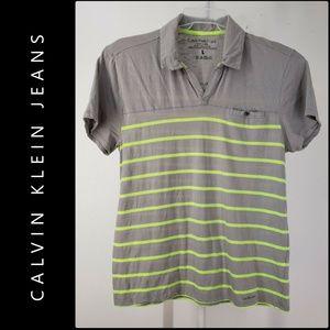 Calvin Klein Men Cotton Short Sleeve Polo Shirt